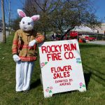 Easter Bunny at Rocky Run Fire Company flower sales fundraiser